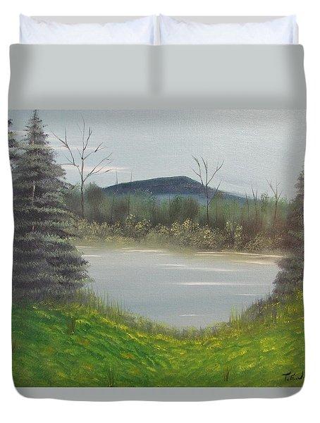 Hidden Pond  Duvet Cover