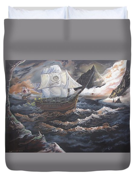 Hidden Skull Cove Duvet Cover