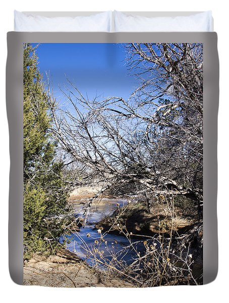 Hidden Swimming Hole Duvet Cover by Ricky Dean