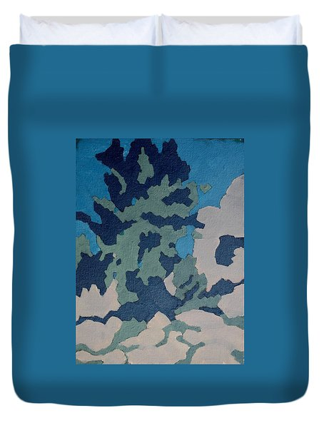 Hidden Valley Abstraction Duvet Cover