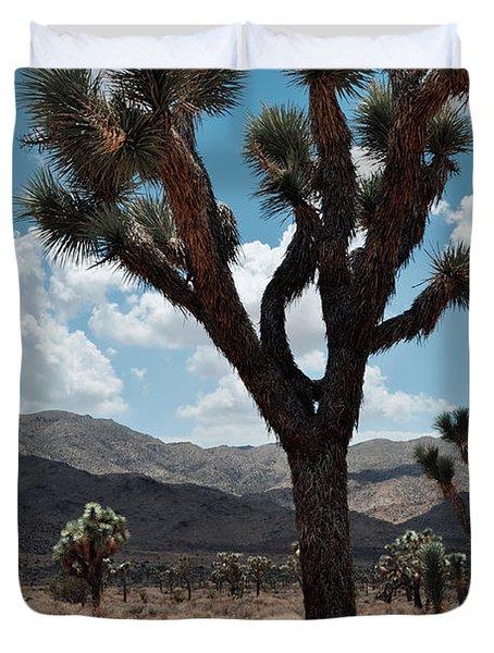 Hidden Valley Joshua Tree Portrait Duvet Cover
