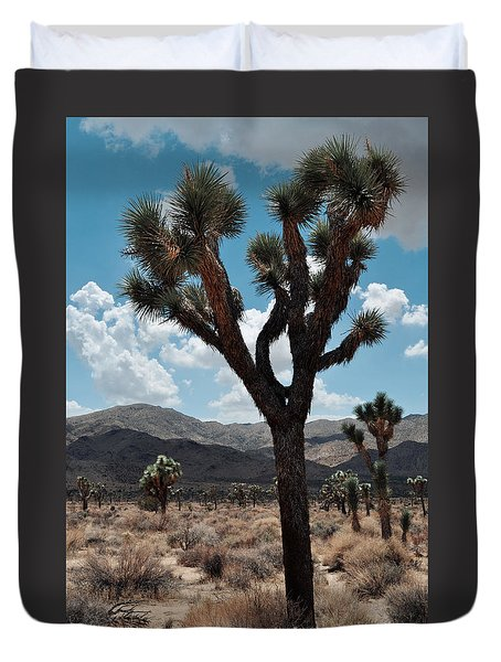 Hidden Valley Joshua Tree Portrait Duvet Cover by Kyle Hanson