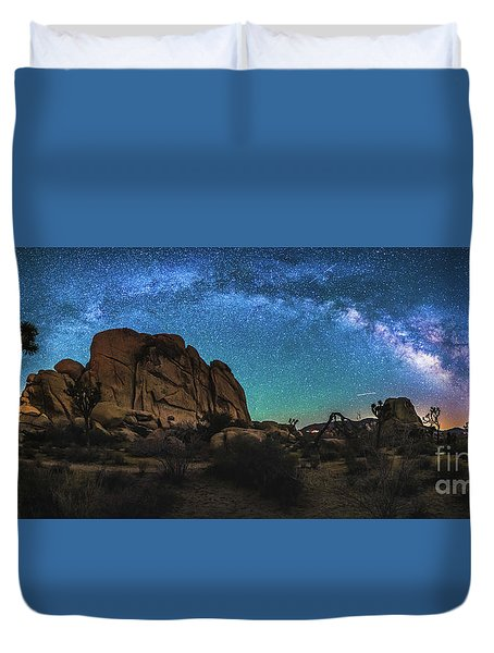 Hidden Valley Milky Way Panorama Duvet Cover