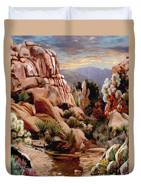 Hidden Valley Trail Duvet Cover