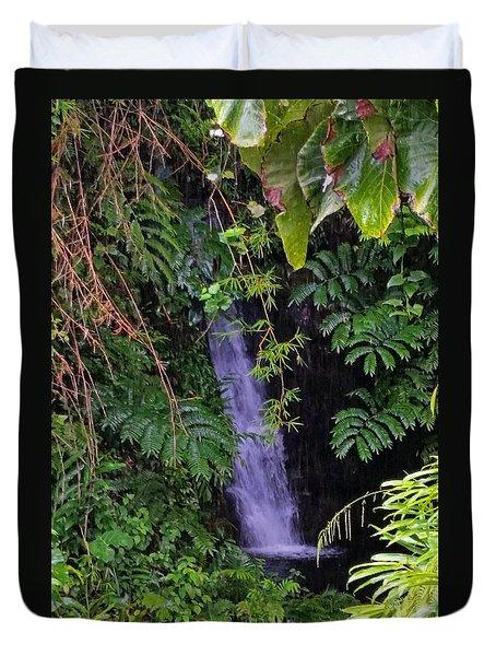 Small Hidden Waterfall  Duvet Cover