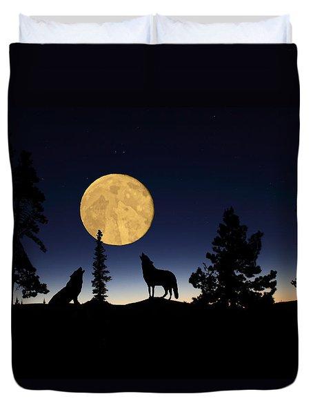 Hidden Wolves Duvet Cover