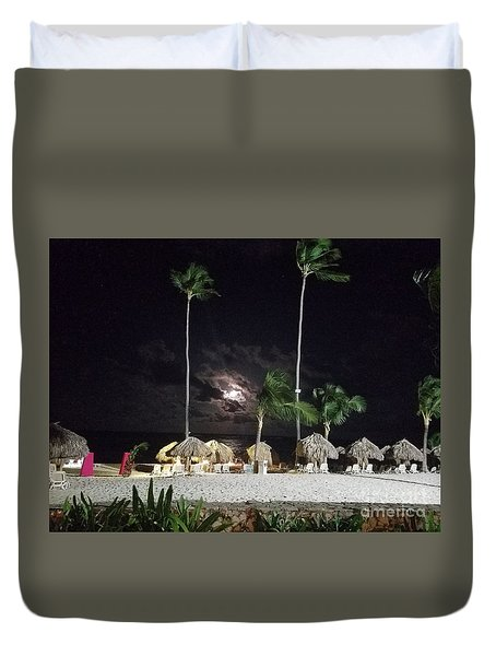 Hiding Moon Duvet Cover