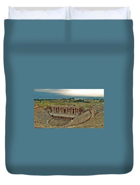 Hierapolis Theater Duvet Cover