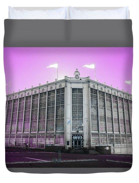 Higgins Armory In Infrared Duvet Cover