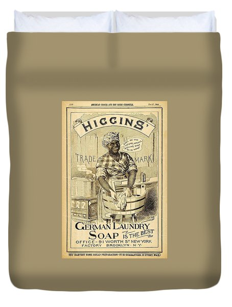 Higgins German Laundry Soap Duvet Cover