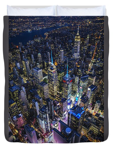 High Above The City Duvet Cover