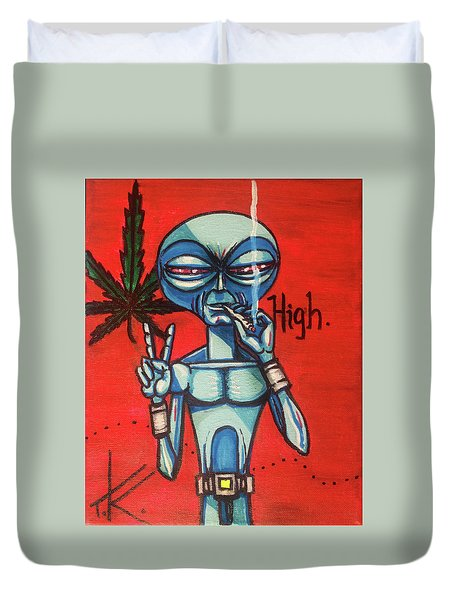 High Alien Duvet Cover