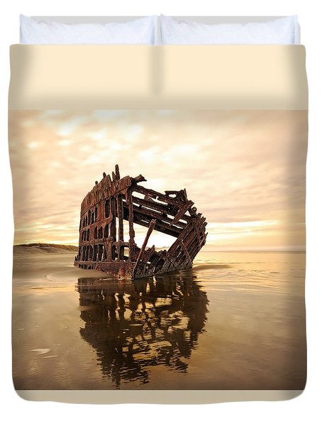 High And Dry, The Peter Iredale Duvet Cover