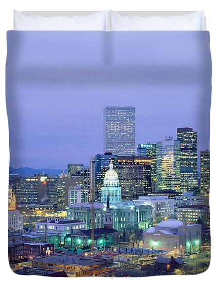 High Angle View Of The State Capitol Duvet Cover
