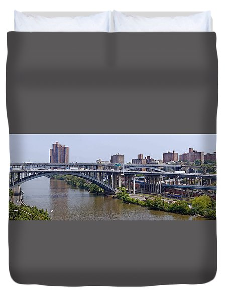 High Bridge Panorama Duvet Cover