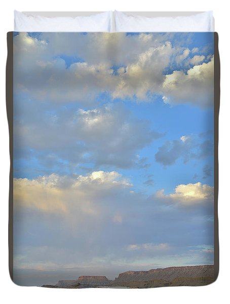High Clouds Over Caineville Wash Duvet Cover