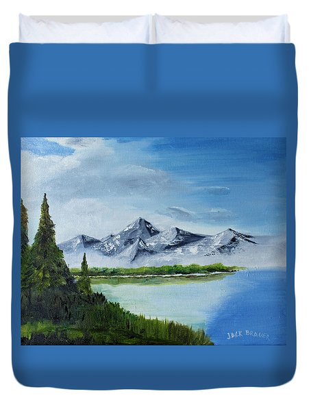 High Country Fog Duvet Cover