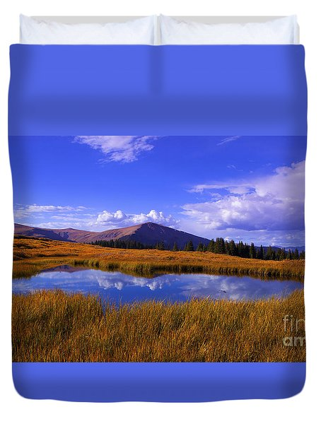 High Country Pond Duvet Cover