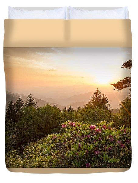 High Country Sunset Duvet Cover