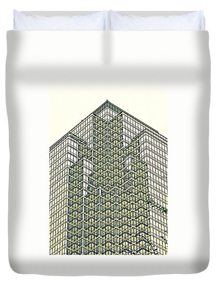 Downtown Dallas Duvet Cover