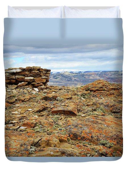 High Desert Cairn Duvet Cover