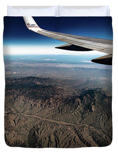 High Desert From High Above Duvet Cover