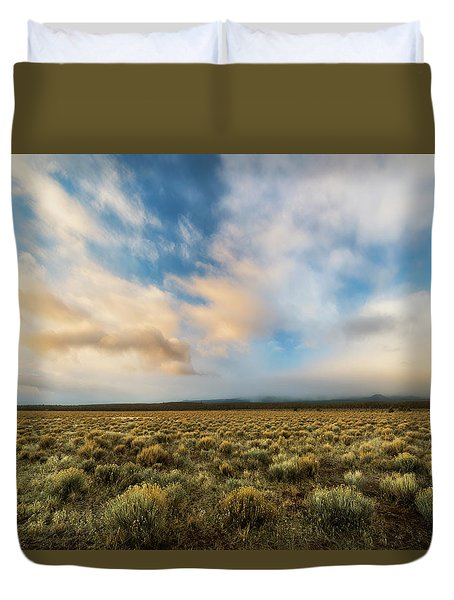 Duvet Cover featuring the photograph High Desert Morning by Ryan Manuel