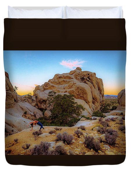 Duvet Cover featuring the photograph High Desert Pose by T Brian Jones