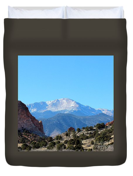 High Desert Winter Duvet Cover