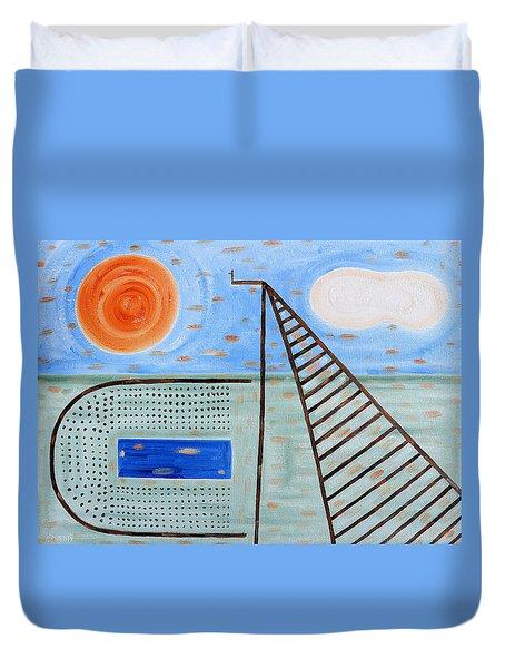 High Dive Duvet Cover by Patrick J Murphy