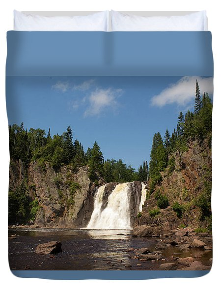 High Falls At Tettegouche State Park Duvet Cover