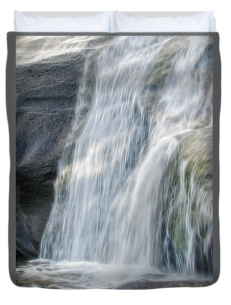 High Falls Three Duvet Cover by Steven Richardson