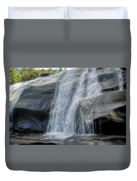 High Falls Two Duvet Cover