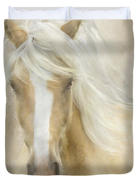 Duvet Cover featuring the painting Spun Sugar by Colleen Taylor