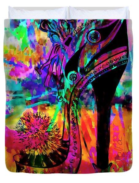 High Heel Heaven Abstract Duvet Cover by Jolanta Anna Karolska