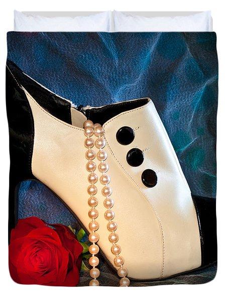 High Heel Spat Bootie Shoe Duvet Cover