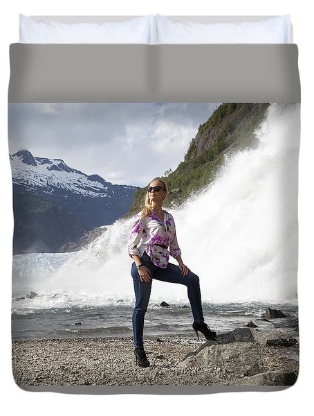 High Heels Hiking Duvet Cover