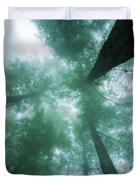 High In The Mist Duvet Cover by Evgeni Dinev
