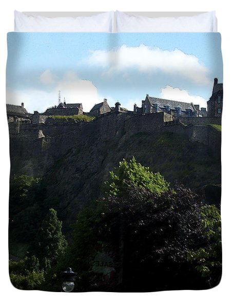 Duvet Cover featuring the photograph High by Janelle Dey