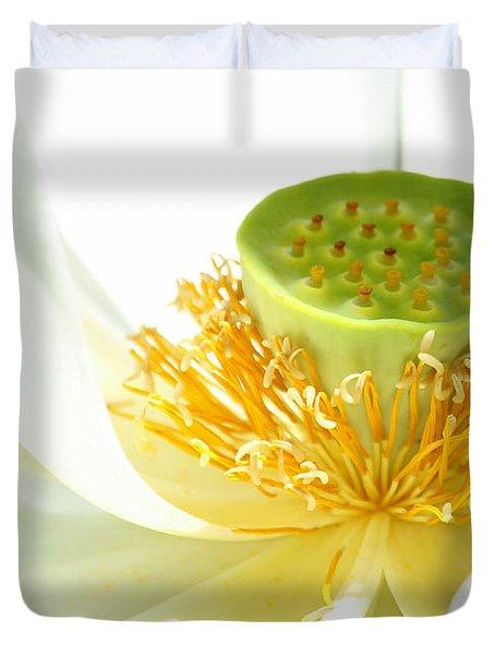High Key Lotus Duvet Cover by Sabrina L Ryan