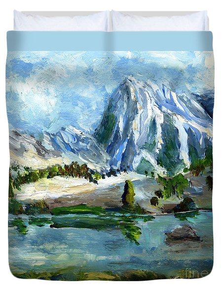 High Lake First Snow Duvet Cover