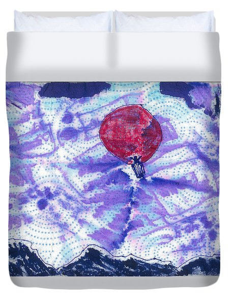High Over The Rockies Duvet Cover
