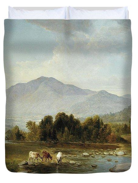 High Point  Shandaken Mountains, 1853 Duvet Cover
