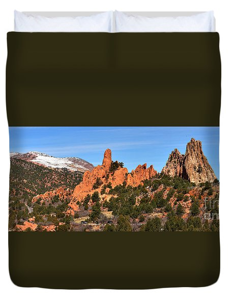 Duvet Cover featuring the photograph High Point View by Adam Jewell