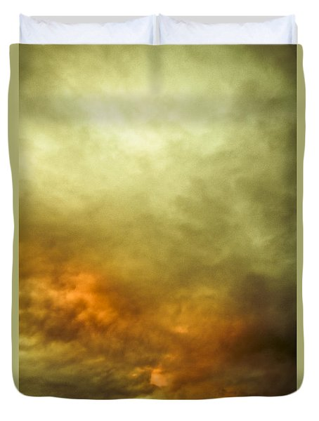 Duvet Cover featuring the photograph High Pressure Skyline by Jorgo Photography - Wall Art Gallery