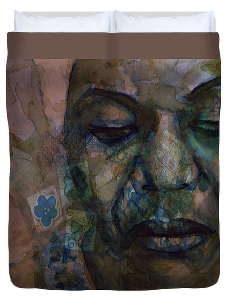 Duvet Cover featuring the painting High Priestess Of Soul  by Paul Lovering