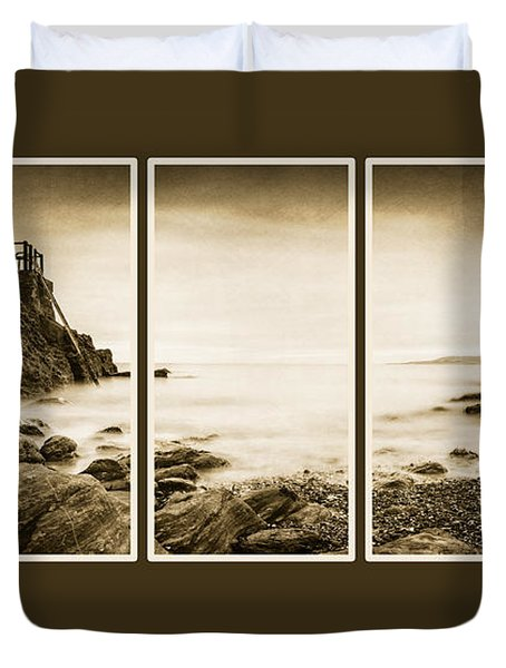 High Rock Triptych Duvet Cover