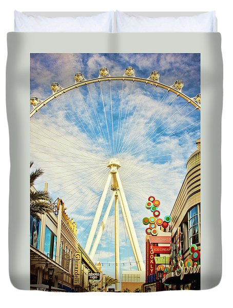 High Roller Wheel, Las Vegas Duvet Cover