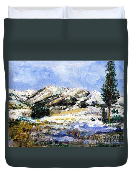 High Sierra Snow Melt Duvet Cover