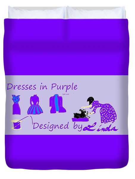 High Style Fashion, Dresses In Purple Duvet Cover